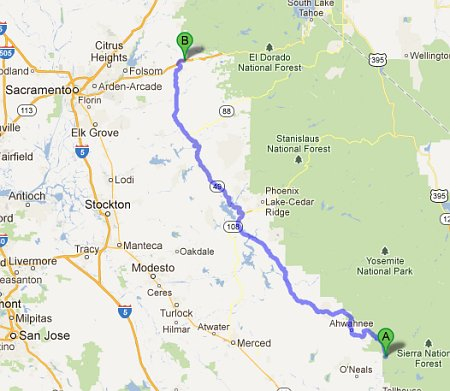 North Fork to Placerville
