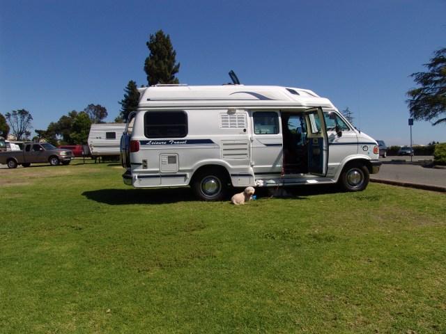My camp spot at Pinto Lake