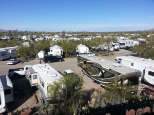 Desert Trails...  Sea of RVs