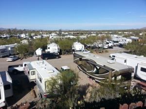 Desert Trails...  Sea of RVs