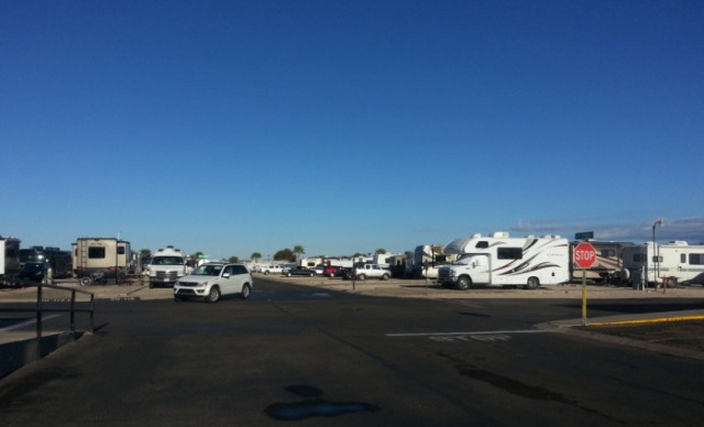 On the Streets of Voyager RV Park