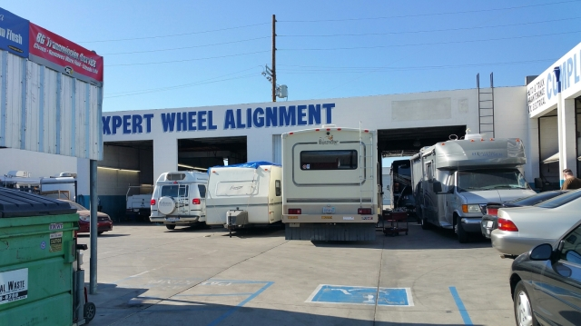 Visit to Tru-Line in VAn Nuys. Wish this place was closer!  Happy little RVs getting tender care.