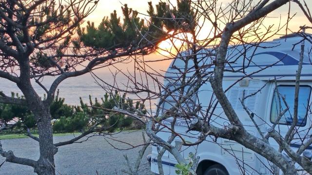My beautiful night. Sunset and dusk take a long sweet time.